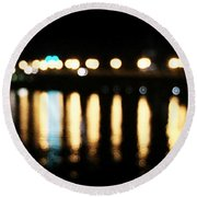 Bridge Of Lions -  Old City Lights Round Beach Towel