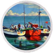 Ready For The Sea, Peru Impression Round Beach Towel