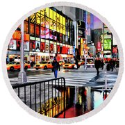 Round Beach Towel featuring the photograph Ready Or Not by Diana Angstadt