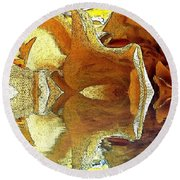 Round Beach Towel featuring the photograph Ready To Fly by Kathie Chicoine