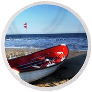 Ready To Row Round Beach Towel