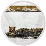 Ready To Swim Round Beach Towel