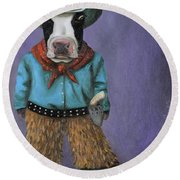 Real Cowboy Round Beach Towel