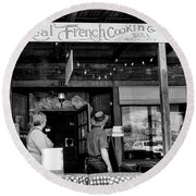 Real French Cooking Louisiana Restaurant  Round Beach Towel
