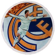 Real Madrid Painting Round Beach Towel