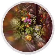 Round Beach Towel featuring the photograph Floral Arrangement No. 1 by Richard Cummings