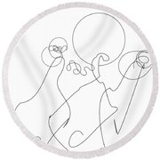 Really Loose Drawing 2 Round Beach Towel
