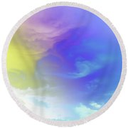 Realm Of Angels Round Beach Towel