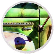 Rear View Mirror Round Beach Towel