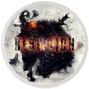 Round Beach Towel featuring the digital art Rebellion by Mo T
