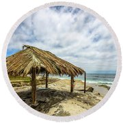 Rebirth  At Windandsea Round Beach Towel by Peter Tellone