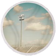 Round Beach Towel featuring the photograph Recalling High School Memories by Trish Mistric