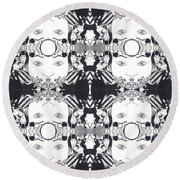 Recalling The Goddess 2 Tile Round Beach Towel