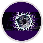 Receive And Believe In Black Round Beach Towel