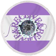 Receive And Believe In White Round Beach Towel