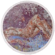 Recline Nude Round Beach Towel
