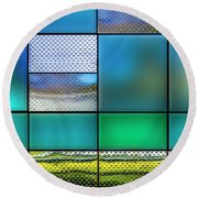 Rectangles Round Beach Towel by Paul Wear