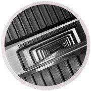 Rectangular Spiral Staircase Round Beach Towel