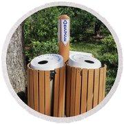 Recycle Bins. Round Beach Towel