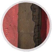 Red Adobe Round Beach Towel by Nadalyn Larsen