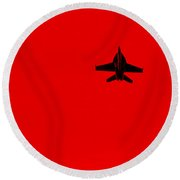 Red Alert Round Beach Towel