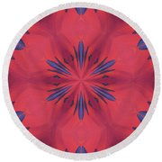 Round Beach Towel featuring the mixed media Red And Blue by Elizabeth Lock