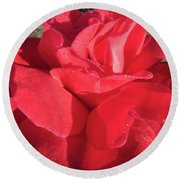 Red And Wet Round Beach Towel
