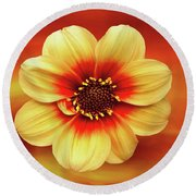 Red And Yellow Inspiration Round Beach Towel