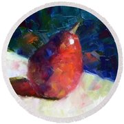 Red Anjou Arriving Round Beach Towel