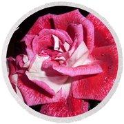 Red Beauty 3 - Love Round Beach Towel