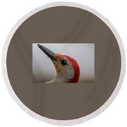 Round Beach Towel featuring the photograph Red-bellied Woodpecker by Norman Peay