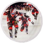 Red Bull Crashed Ice St Paul 3 Round Beach Towel