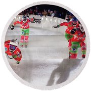 Red Bull Crashed Ice St Paul Round Beach Towel