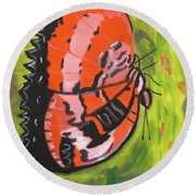 Candy Apples Round Beach Towel