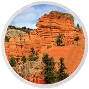 Red Canyon Area In Utah Round Beach Towel