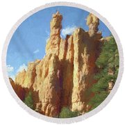 Red Canyon Twins Round Beach Towel