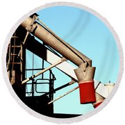 Round Beach Towel featuring the photograph Red Chutes by Stephen Mitchell