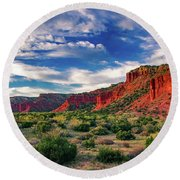 Red Cliffs Of Caprock Canyon 2 Round Beach Towel