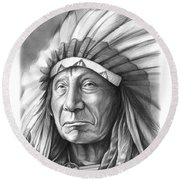 Red Cloud Round Beach Towel