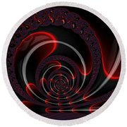 Red Cobra Round Beach Towel
