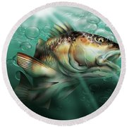 Red Drum Round Beach Towel