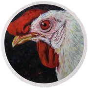 Red Eye Round Beach Towel