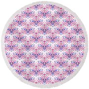 Red Fabric Pattern Round Beach Towel
