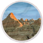Red Faced Panorama Round Beach Towel