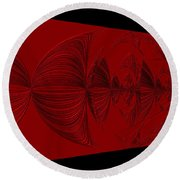 Red And Black Design. Art Round Beach Towel