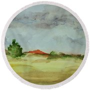 Red Hill Landscape Round Beach Towel