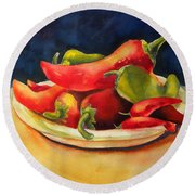 Red Hot Chile Peppers Round Beach Towel