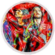 Red Hot Chili Peppers In Color II  Round Beach Towel