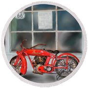 Red Hot Tail Gunner Round Beach Towel by Colleen Taylor