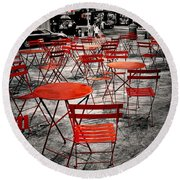 Red In My World - New York City Round Beach Towel